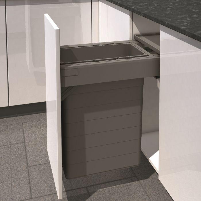 One2Five Single Compartment 42L Built-in Bin : 400mm Door