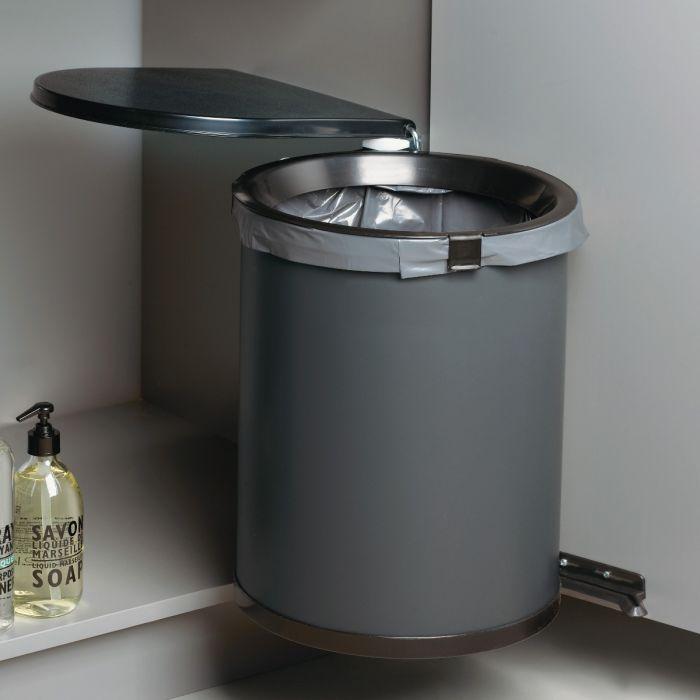 Mullboy 30L In-cupboard Swing Out Bin: 450mm Door