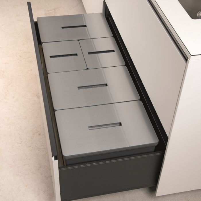 Tecnobig 5-Compartment 99L Recycler - 1200mm Drawer