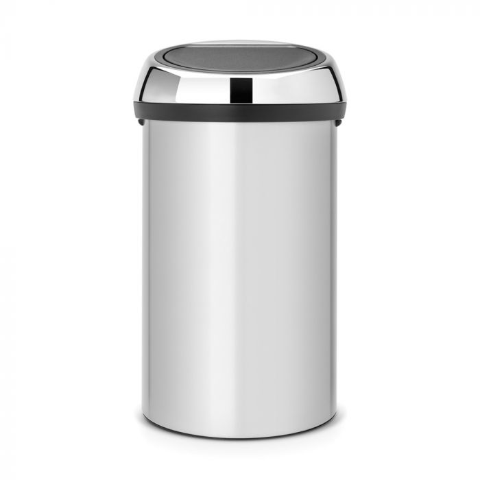 Touch Single Compartment 60L Kitchen Bin - Metallic Grey : 402425