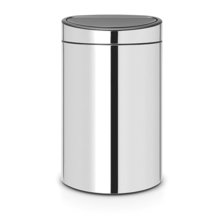 Touch 2-Compartment 33L Kitchen Recycling Bin Brilliant Steel - 115004