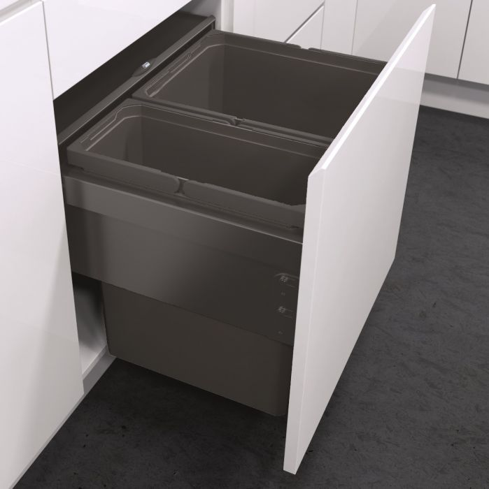 ES-Pro 2-Compartment 49L Recycler - Lava Grey : 500mm Door