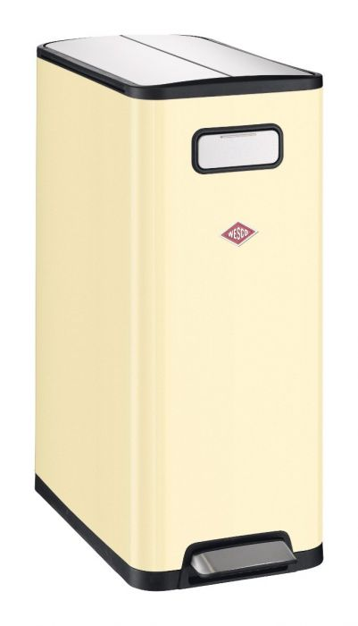 Big Double Master 2-Compartment 40L Kitchen Recycling Bin - Almond: 381511-23