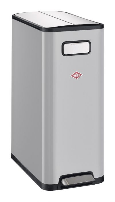 Big Double Master 2-Compartment 40L Kitchen Recycling Bin - Cool Grey: 381511-76