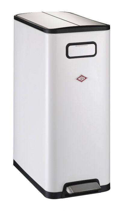Big Double Master 2-Compartment 40L Kitchen Recycling Bin - White : 381511-01