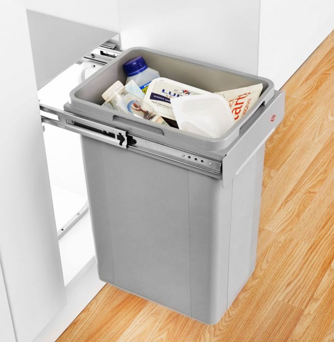 Bio Single Compartment 32L Pull-out Bin 757WS221-85: 300mm Door