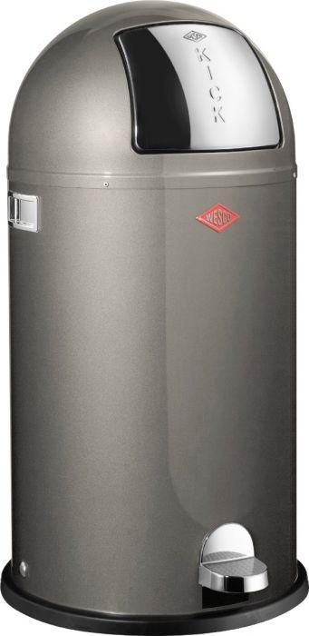 Kickboy Single Compartment 40 Litre Pedal Bin: Graphite