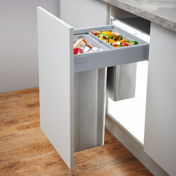Pullboy-Z 2-Compartment 43L Recycler 828WS468-11: 450mm Door