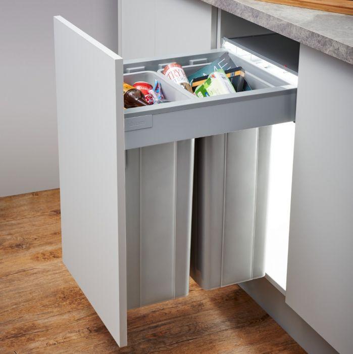 Pullboy-Z 64L 2-Compartment Recycler 827WS468-11: 450mm Door