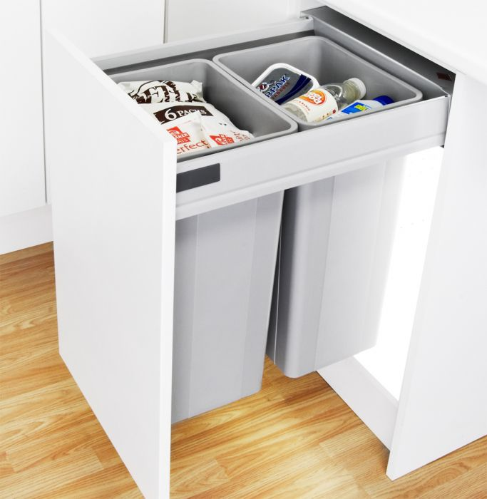 Pullboy-Z 64L 2-Compartment Recycler 827WS518-11: 500mm Door