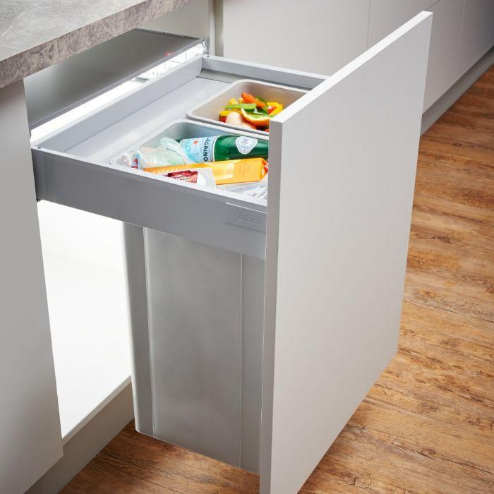 Pullboy-Z 2-Compartment 64L Recycler 828WS614-11: 600mm Door