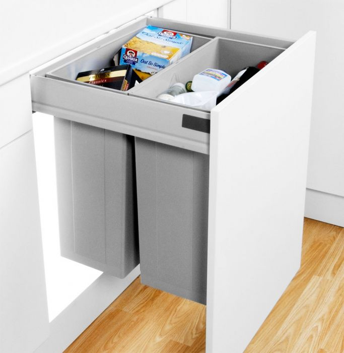 Pullboy-Z Two Compartment 80L Recycler 827WS640-11: 600mm Door