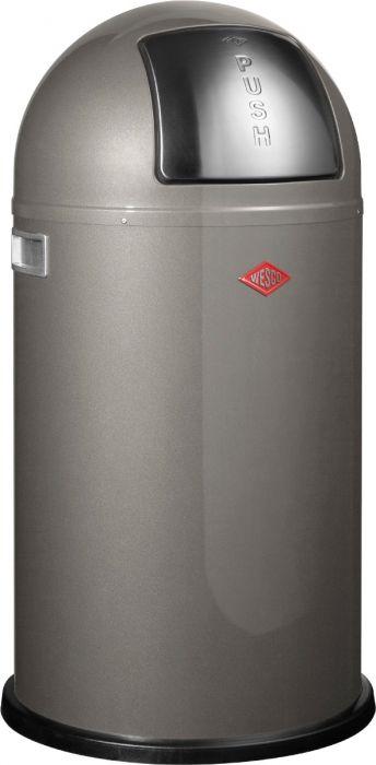 Pushboy Single Compartment 50L Kitchen Bin in Graphite: 175831-13