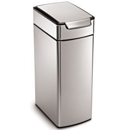 Slim Touch Bar Bin 40L Stainless Steel - CW2016