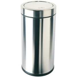 Single Compartment 55L Swing Top Bin Stainless Steel - CW1442