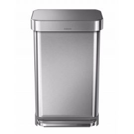 Single Compartment 45L Liner Pocket Pedal Bin - Stainless Steel - CW2024