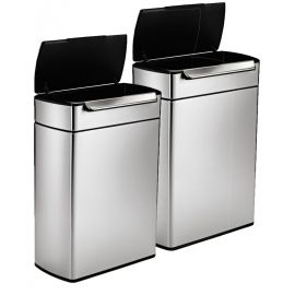 Touch Bar 2-Bin Recycling Set : 96 Litres