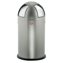 Push Two Recycling Bin in New Silver, 50L - 175861-03