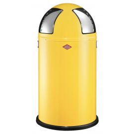 Wesco Push Two 50L Recycling Bin in Yellow - 175861-19
