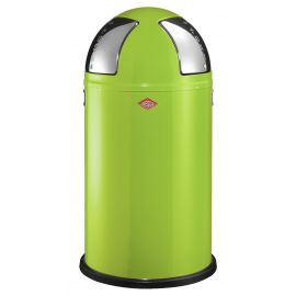 Wesco Push Two Recycling Bin in Lime Green, 50L - 175861-20