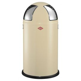 Push Two Recycling Bin in Almond - 50L - 175861-23