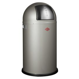 Pushboy Bin in New Silver - 50L: 175831-03