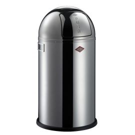 Pushboy Bin in Polished Stainless Steel - 50L: 175834-41