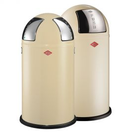 Pushboy/Push Two 2-Bin Recycling Set: Almond