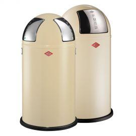 Wesco Pushboy/Push Two 2-Bin Recycling Set: Almond