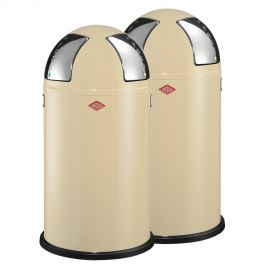 Push Two 2-Bin Recycling Set: Almond