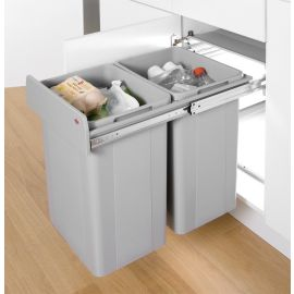Big Bio Double 52L 2-Compartment Recycler 757WS811-85: 400mm Door