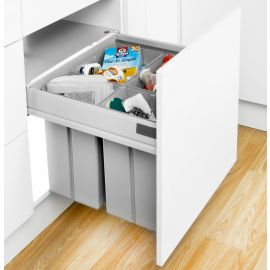 Pullboy-Z 60L 4-Compartment Recycler 827WS608-11: 600mm Door