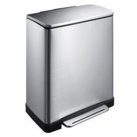 E-Cube 2-Compartment Stainless Steel 46L Recycling Bin - VB 926846 SS