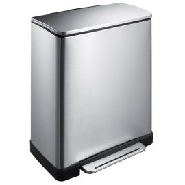 E-Cube Single Compartment 50L Pedal Bin - Stainless Steel - VB 926850 SS