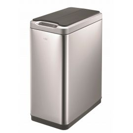 Slimline Sensor 2-Compartment Recycling Bin 40L Stainless Steel - VB 927740