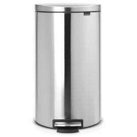 Flatback Pedal Bin 30L: Stainless Steel - 482007