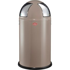 Push Two Recycling Bin in Warm Grey - 50L - 175861-57