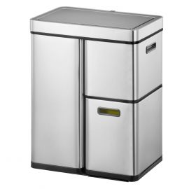 Sensor Plus 3-Compartment Recycling Bin 60L Stainless Steel - 933VB860