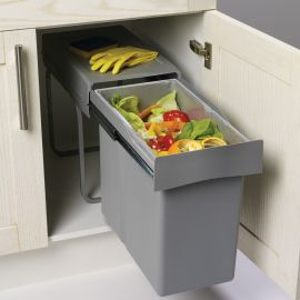 Single Compartment 30L Waste Bin : 300mm Door