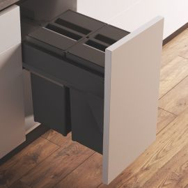Linea 580 Plus 2 Compartment 58L Recycler : 400mm Door