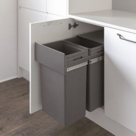 2-Compartment 64L Recycling Bin : 400mm Door