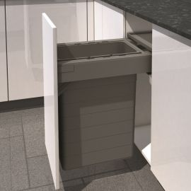 One2Five Single Compartment 42L Built-in Bin : 400mm Door