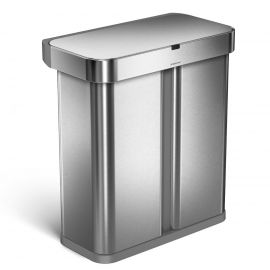 Simplehuman Dual Compartment Voice & Motion Sensor Bin 58L - ST2015