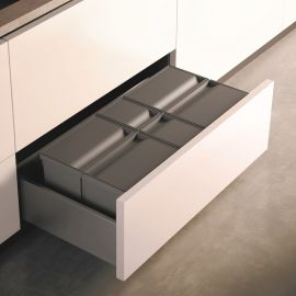 Sistema 9XL Drawer Based 49L Recycling Set : 900mm Drawer