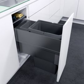ES-Pro Single Compartment 33.2L In-cupboard Bin - Lava Grey : 300mm Door