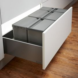 Pullboy-9XL Drawer 63L Recycling Set 802090-XL : 900mm Drawer