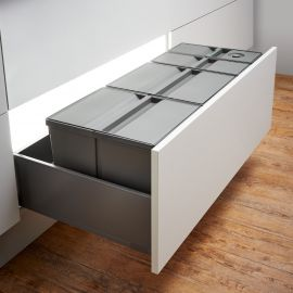 Pullboy-9XL Drawer 74L 4-Compartment Recycling Set 802100-XL : 1000mm Drawer