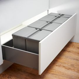 Pullboy-9XL Drawer 89L 4-Compartment Recycling Set 802120-XL : 1200mm Drawer