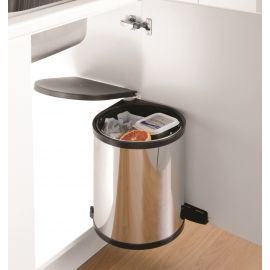 Classic Single Compartment Stainless Steel Waste Bin 13L : 400mm Door