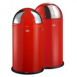 Pushboy/Push Two 2-Bin Recycling Set: Red